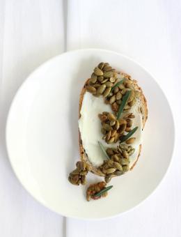 Rosemary pepita seed mix Amazin'Nuts with fresh Rosemary, garlic, pepitas and Himalayan rock salt