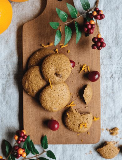 Orange and cranberry gluten free cookies as part of Amazin' Graze Christmas Special range
