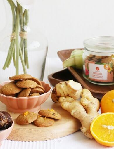 Date, Orange & Ginger Cookies Image