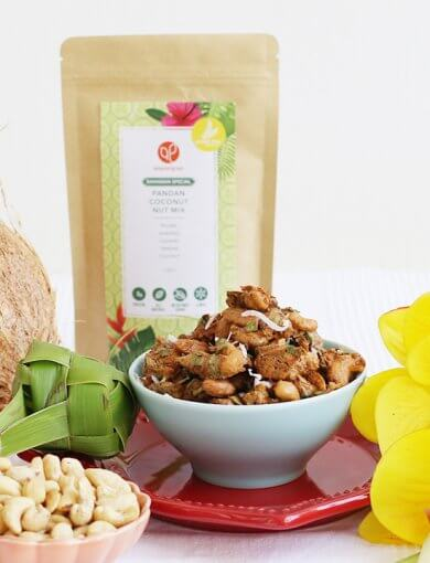 Pandan Coconut Nut Mix Image